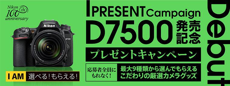 D7500発売記念 プレゼントキャンペーン