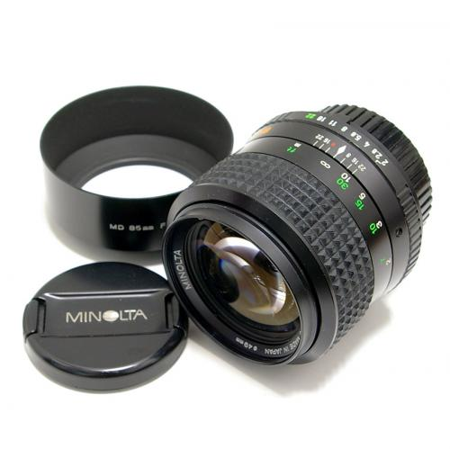 中古 ミノルタ MD ROKKOR 85mm F2 minolta