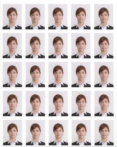 (フォトスタジオ八百富) ハイグレード証明写真 【美肌仕上】 リクルート(就活)履歴書用 4+25枚セット