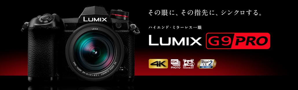 パナソニック LUMIX DC-G9 高精細20.3M Live MOSセンサー&世界最高 6.5段ボディ内手ブレ補正で、高解像かつ高品位なLUMIX史上最高画質を実現